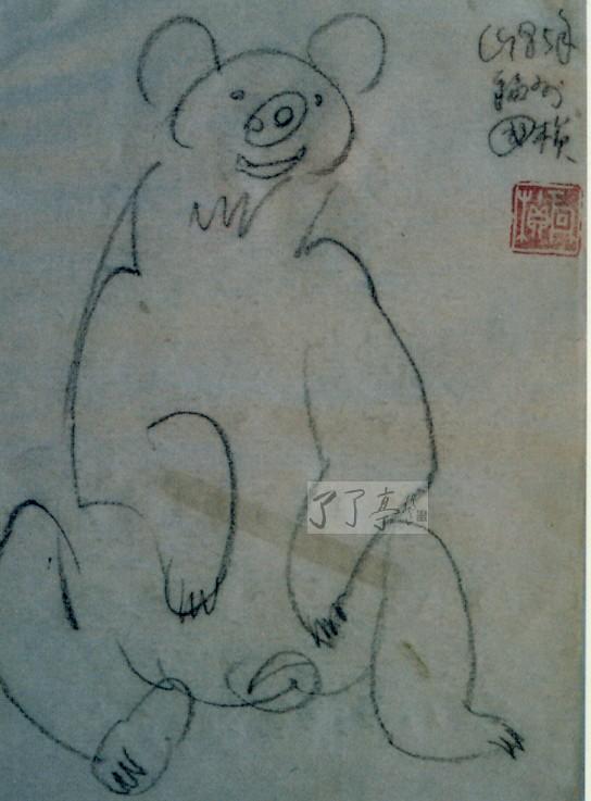 周国桢教授的动物速写系列画