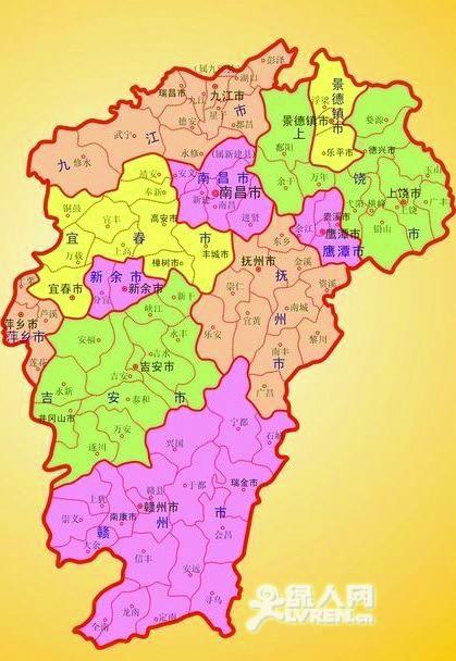 江西地图高清全图