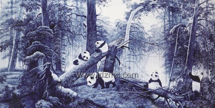 熊猫是我国的国宝,以熊猫为内容的画作比比皆是.