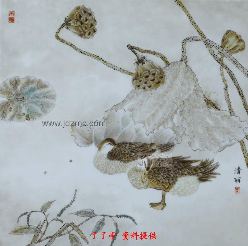 王清丽景德镇陶瓷,工笔国画图集