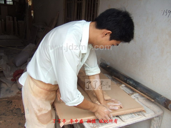 四年级美术泥板雕刻画
