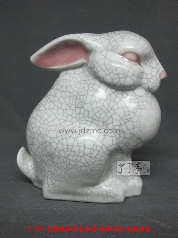 陶艺雕塑动物猫